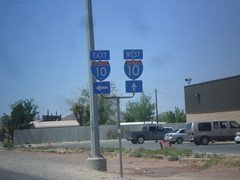 BL-10 West at I-10 (sagebrushgis) Tags: sign texas intersection shield i10 vanhorn freewayjunction bl10vanhorn