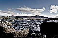 A Choppy Loch (RossElder) Tags: bridge sky cold slr clouds digital photoshop scotland boat nationalpark highlands nikon wind clear adobe loch dslr unsettled garten aviemore lightroom nethybridge cairngorms choppy boatofgarten nethy lochgarten cairngormmountains d7000 nikond7000