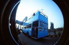 Mumbai Party Bus (raspberry dolly) Tags: india film lomography fisheye mumbai lomofisheye