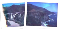 Bixby Bridge (cromwell_schubarth) Tags: california bigsur bixbybridge polaroid669 polaroid250