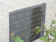 The Memorial Plaque of St Johns Anglican Church  Downey Street, Alexandra (raaen99) Tags: door roof roses flower building tree tower church window wall architecture facade garden tile concrete religious town leaf 1930s worship catholic exterior terracotta painted faith country religion entrance stjohns australia chapel victoria belltower doorway belfry alexandra porch catholicism 20thcentury grounds stainedglasswindow anglican stucco 30s 1937 anglicanchurch churchbuilding rooftile placeofworship spanishmission countryvictoria vestibule twentiethcentury countrytown hippedroof northeastvictoria religiousbuilding stjohnsanglicanchurch spanishmissionstyle spanishmissionarchitecture provincialvictoria georgepayne spanishmissionchurch terracottarooftile downeystreet architecturallydesigned lrwilliams spanishmissionbuilding downeyst alexandraanglicanchurch stjohnsalexandra theanglicanchurchofstjohn