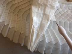 Ryujin 3.5 progress (2) (mr.origami) Tags: original brown white dan paper japanese model origami dragon rice mr daniel jin models chinese 35 eastern ryu satoshi zin ryujin kareshi kamiya ryuzin mrorigami