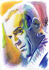 The Black Cat Art by Luis Diaz-2 (Luis Diaz Art) Tags: theblackcat boriskarloff artofrobertaragonsketchcards artbyluisdiaz