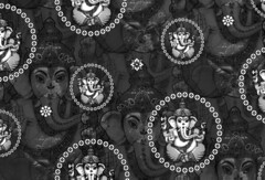 Big Mono Bejewelled Ganesh Wallpaper Sample 1 (lovekittypink) Tags: wallpaper india white black scale vintage print grey mono design ganesha big quality indian large silk style kitsch retro ganesh satin hindu sheen printed jewel greyscale monchrome removable bejewelled spoonflower spoonflowerdesign lovekittypink lovekittypinkcom lovekittypinkdesign