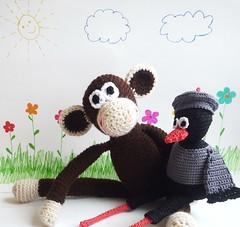 Crochet Monkey Matilda (MonikaDesign) Tags: brown girl kids zoo monkey stuffed toddler handmade crochet jungle etsy amigurumi crocheted monikadesign