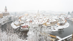esk Krumlov in snow (dawvon) Tags: world city travel trees winter panorama plants white snow nature colors architecture river season landscape ed nikon europe cityscape zoom snapshot wideangle unescoworldheritagesite unesco worldheritagesite snaps unitednations czechrepublic nikkor snowfall ceskykrumlov bohemia vltava f4 vr afs lenses historicalbuilding zoomlens vltavariver f4g eskkrumlov unitednationseducationalscientificandculturalorganization southbohemia 1635mm echy eskrepublika  jihoeskkraj fmount vibrationreduction vr2 vrii  wideanglezoom centraleasterneurope eskkrumlovcastle nanocrystalcoat sttnhradazmekeskkrumlov afsnikkor1635mmf4gedvr 1635mmf4gvr  statecastleeskkrumlov southbohemiaregion eskkrumlovstatecastle eskkrumlovstatecastleandchateau