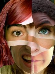 croquis (BigLinou) Tags: portrait mélange visage croquis étrange retouche hybride déchiré cinqvisages