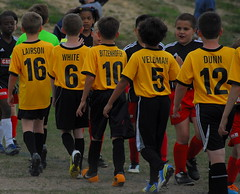 The United Colors of Good Sportsmanship (bitzcelt) Tags: color sport football team nikon uniform soccer northcarolina raleigh nike wakeforest goodsport sportsmanship number10 u10 casl teamsport youthsports youthsoccer nikkor18200mmvr goodsportsmanship bitzcelt 0413soccer3