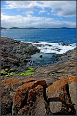 Rock Pool 2 (Rubio-Martinez) Tags: sea sky seascape beach water pool rock clouds landscape denmark rocks waves pentax kx pentaxkx greatsouthern justpentax