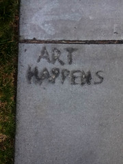 Inspiration on a Sidewalk (ness_roo) Tags: inspiration signs art photography losangeles sidewalk csun arthappens northridgde