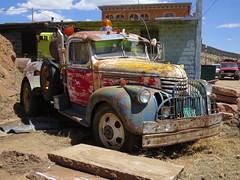 Love This Old Wrecker (Patricia Henschen) Tags: victorcolorado chevrolettruck jet jetservice chevrolet 1942chevrolettowtruck vintagetowtruck wrecker victor colorado rust truck tow