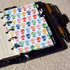 filofax-mini-dividers (CathrynCook) Tags: hellokitty mini planner filofax radley amazona dividers organiser