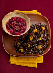 Pumpkin and dried cranberry Rice (JennyLunde) Tags: food usa minnesota pumpkin minneapolis cranberries wildrice