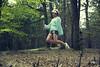 leaving for dreamland (carlo occhiena) Tags: wood girl fly dream levitation blonde unreal viaggio surreale onirico levitazione