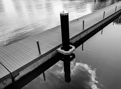 Minimalist reflections (Abdulla555) Tags: blackandwhite bw reflection reflections fuji doha qatar   xe1