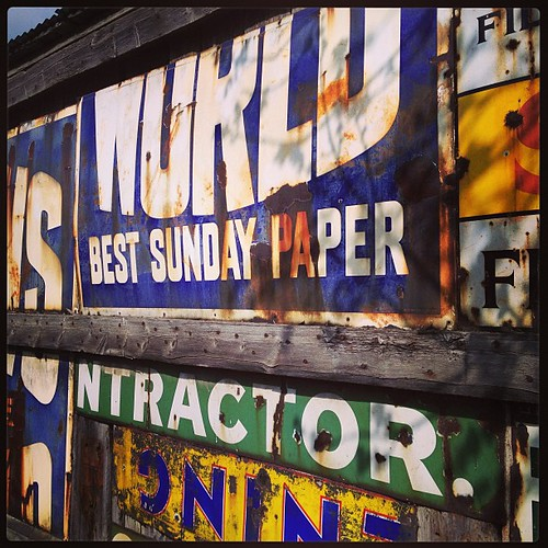Signs at Beamish! #old #signs #beamish
