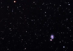 M51 - 02052013 - 30mins + 30mins darks, 20 flats, 20 bias - taken with a D3100, SW 150p on an HEQ5, guided with QHY5 on finderguider (Ed Gibbs) Tags: 30 nikon with flats m51 dss stacked minutes bias cs4 darks skywatcher heq5 150p qhy5 d3100 finderguider