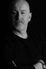 Low key portrait (Istvan Photography) Tags: portrait man male studio bald lowkey blackbackgroung