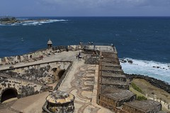 El Morro Protecting Bahia de San Juan (rschnaible) Tags: world old heritage del de puerto bay us site san juan parks el historic atlantic unesco rico explore national bahia caribbean morro felipe castillo battlements rampart explored nrpad