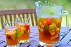 Pimm's O'clock (Anna Bjrklund) Tags: uk summer england holiday garden spring drink bank sunny repetition british monday pimms oclock flickrfriday