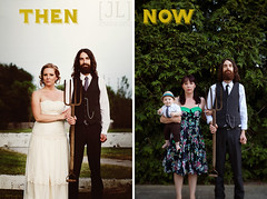 Then & Now | The McRonalds (Jessica Lutz Photography) Tags: wedding woman canada color classic love canon children 50mm bride couple child dress alt marriage 50mm14 always gown weddingdress dreamer americangothic