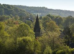 Baslow Church (l4ts) Tags: trees landscape spring derbyshire peakdistrict spire darkpeak allsaintschurch baslow minoltaamount britnatparks baslowchurch