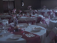 Quincenera set up (Anika Malone) Tags: pink white losangeles mtwashington tables ramonahall