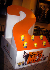 Despicable Me 2 Whack A Mole Minion Game Standee  0193 (Brechtbug) Tags: street new york city nyc 2 two game me yellow computer movie poster theater with theatre cartoon billboard lobby animation critters amc mole 34th whack gru sequel despicable minion standee henchmen standees 2013 a 05202013