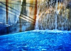 (@ThetaState) Tags: park blue sunset shadow urban toronto ontario canada fountain concrete waterfall waves may cloudgarden digitalcameraclub 2013 visipix