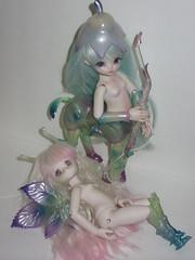 My Ent Sisters <3 (Alexiaaaaaa) Tags: bjd leeke world leekeworld ent centaur fantasy elf fairy flower transarent resin parts tiny yosd pure rose wings soda honey