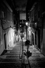 Lisbon Story #1 (glynbrownson) Tags: lisbon dark city mood monochrome atmosphere night noir highcontrast ricohgr portugal streetphotography shadow blackandwhite alley