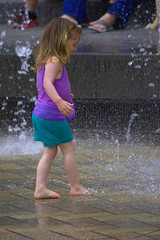 Happiness Is .... (swong95765) Tags: cute wet water fountain girl fun kid play