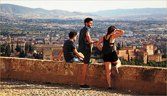 L'Alhambra et Granada depuis l'Ermita de San Miguel Alto, Granada, Andalucia, Espana (claude lina) Tags: claudelina espana spain espagne andalucia andalousie granada grenade ville town alhambra paysage landscape
