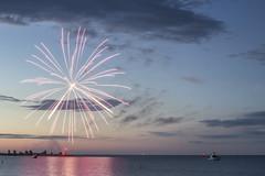 Winnipeg Beach Boardwalk Days (AertformePhoto) Tags: fireworks winnipegbeach summer boardwalkdays sunset camping pyrotechnics lakewinnipeg beach sky