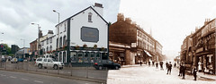 St Oswald's Street, Old Swan, 1900s and 2016 panorama (Keithjones84) Tags: liverpool merseyside thenandnow architecture rephotography history oldliverpool