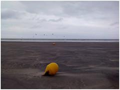 Beach (michelle@c) Tags: landscape seascape balisejaune yellow beacon plage beach lowtide maréebasse sand sea sky hautenormandie smartphone explore michellecourteau buoyant