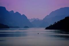 Layered lake (leewoods106) Tags: thailand khaosoknationalpark khaosok cheowlanlake lake mountains nationalpark asia southeastasia canonef100mmf28macrousm canoneosm