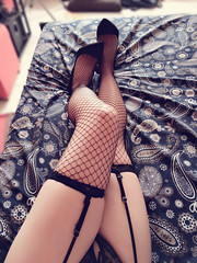(xiaostar01) Tags: heels garters fishnetstockings      boytogirl mtf crossdresser otokonoko