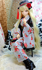 1(July 23, 2016) (nanatsuhachi) Tags: doll dollfiiedreamsister dollfiedream dds dd custom imari  volks kimono  ddh09 fujifilm xt10 xf35mmf2