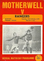 Motherwell v Rangers 19780226 (tcbuzz) Tags: motherwell football club fir park programme premier league first division
