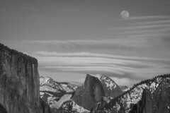 Happy 100 Years US National Parks Service! (Life_After_Death - Shannon Day) Tags: mountains mountain california sierra nevada granite yosemite national park outdoor outdoors landscape photography nature natural wonder historical history yosemitenationalpark nationalpark rock half dome el capitan moon sky clouds lenticular canon canoneos canoneos50d 50d eos dslr canondslr eosdslr canoneos50ddslr blackandwhite bw blackwhite black white mono monochrome chrome lifeafterdeath lifeafterdeathstudios lifeafterdeathphotography shannonday shannondayphotography shannondaylifeafterdeath lifeafterdeathstudiosartandphotography shannondayartandphotography nps 100 years anniversary happy birthday usnationalpark