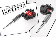 LEGO Tattoo Gun (damoncorso) Tags: lego legos tattoo gun art artist chrome toys toy ink craft