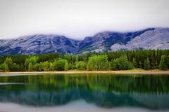 Wedge Pond in the clouds (Arlo Bates) Tags: green alberta kananaskis country lake panasonic wedge pond reflection dx7