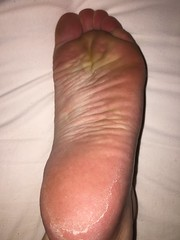 Wrinkled sole right (barefooted84) Tags: feet foot toes barefoot wrinkled