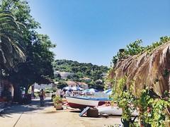 Summer. Vacations. Beach resort. Island. (tzsoti) Tags: village trees sea boat palm aroundtheworld travel vacations beachresort summerlife beachlife island beach summer