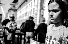 The same old fears. London (M.DStreets) Tags: amateur blackwhite bw blackandwhite candid city contrast child children d3200 dslr expression england face faces girl innercity inspiration kid nikon london mdstreets monochrome mono noir outdoor movement photography street shadows travel urban uk pavement