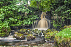 Scarr House Farm Falls (Fields of View) Tags: waterfall yorkshire water river beck longexposure canon canoneos1000d sigma fast splash