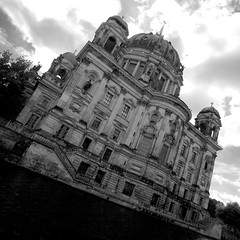 Berliner Dom (daniel_james) Tags: 2016 berlin germany europe museuminsel museumisland berlinerdom mitte architecture canon1022mm blackandwhite square cathedral