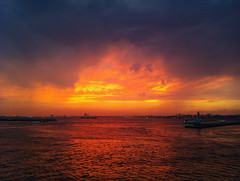 Bosphorus Sunset istanbul (Bkutlak H.D) Tags: bosphorus sky sea sunset sun silhouette shadow ship creative color composition cloud city clouds capture flickr nice nature landscape
