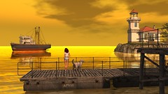 West Of The Rain Photography Contest. (Jojo Songlark) Tags: avatar sl virtualworld secondlife harbor